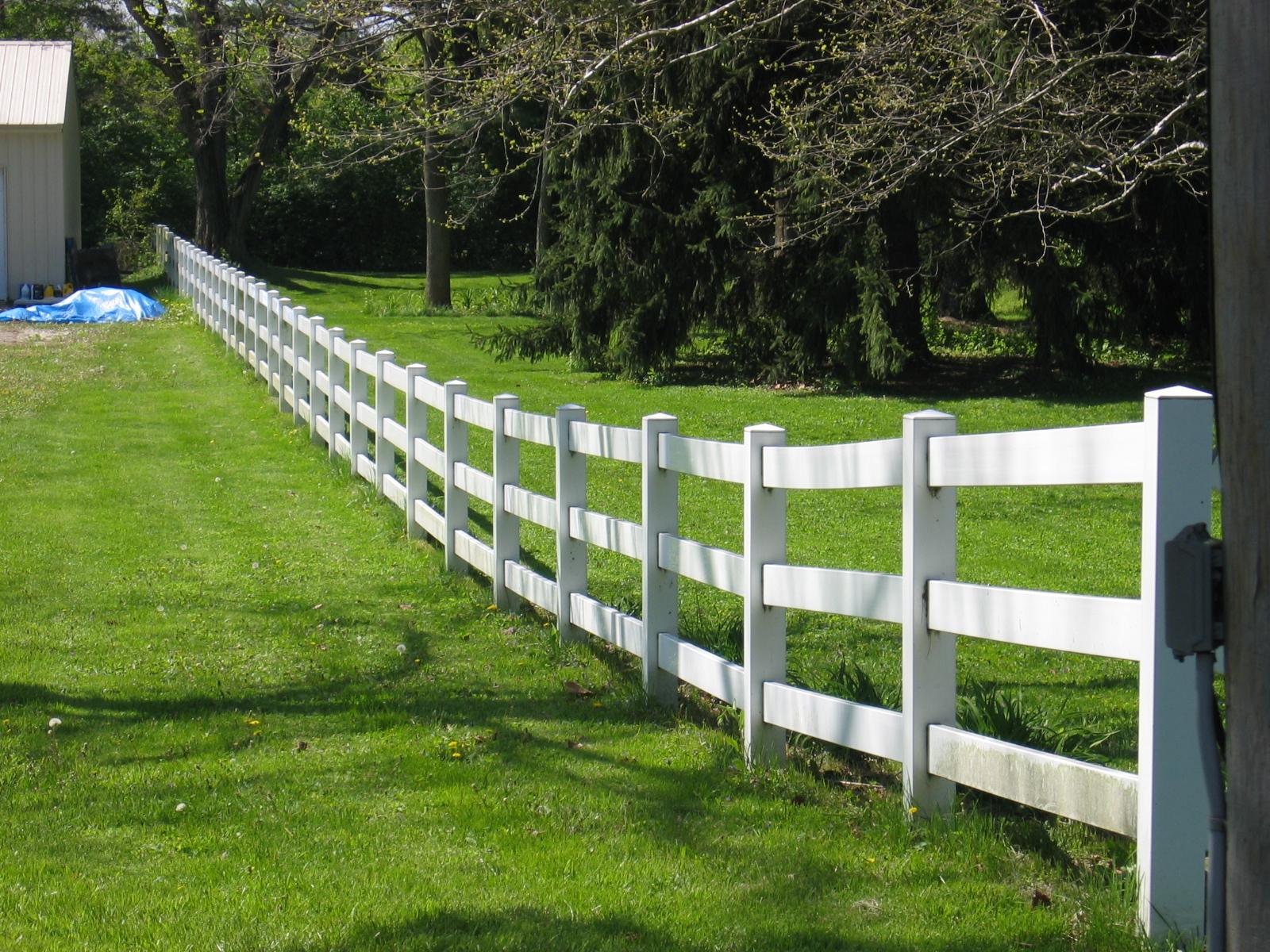 White vinyl post and rail fence herndon va north