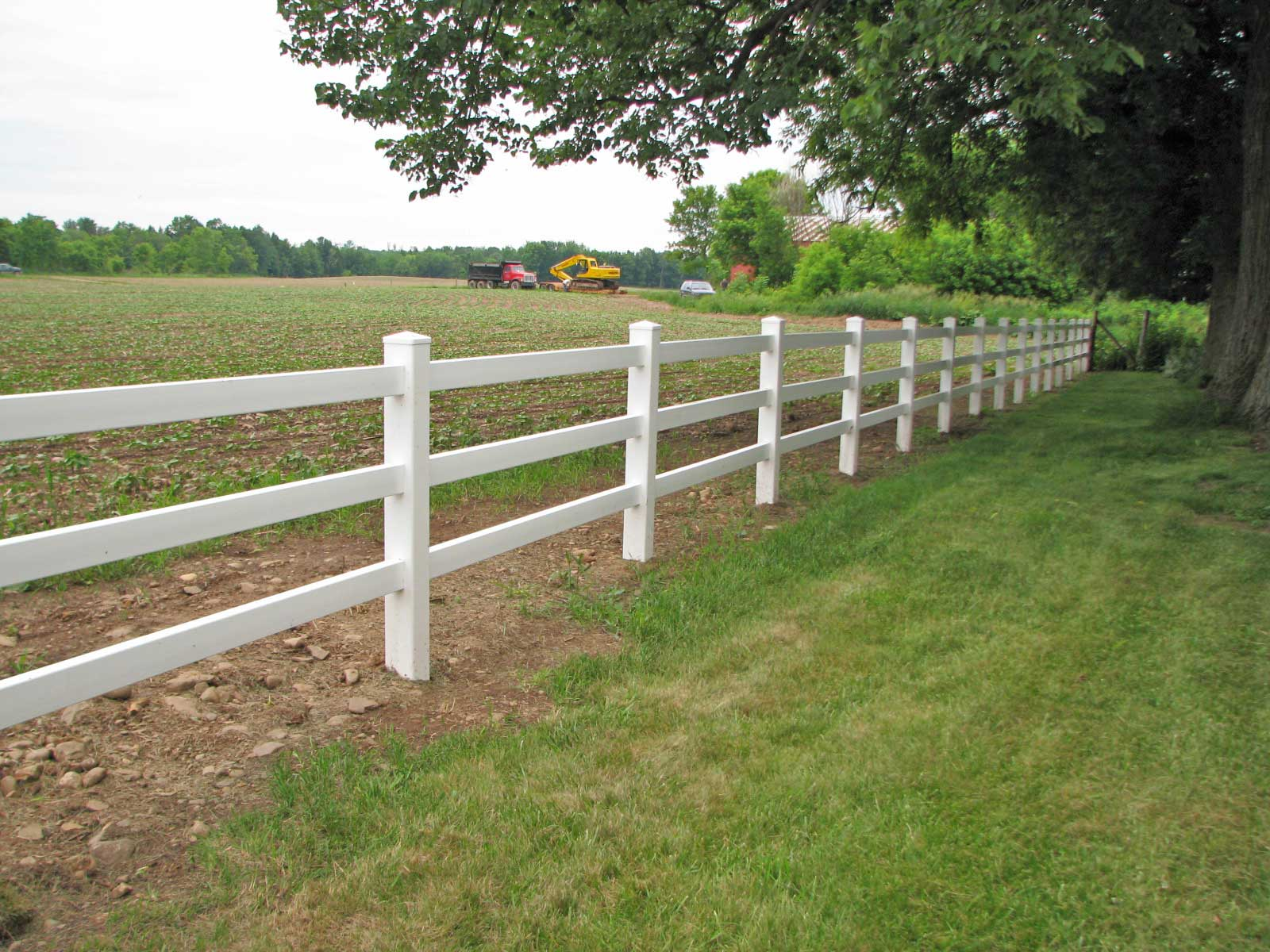 White vinyl post and rail fence reston va north