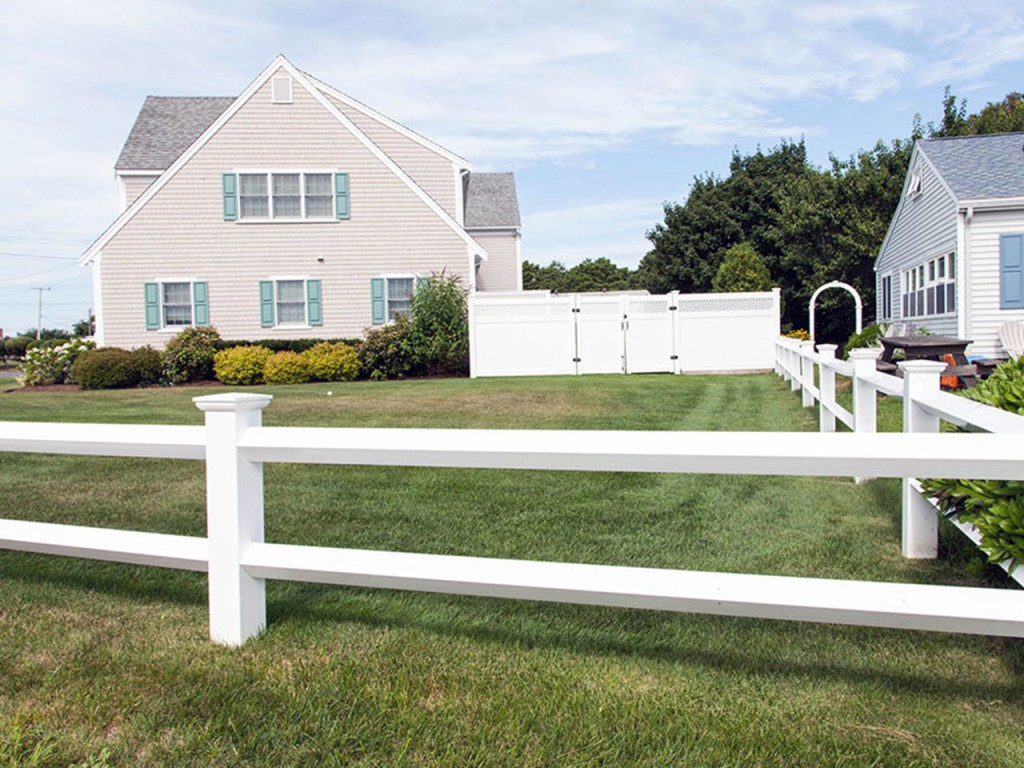 White Vinyl Post and Rail Fence Fairfax VA