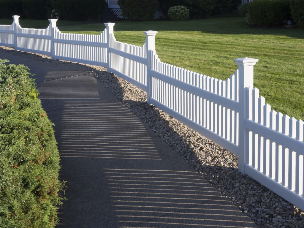 White vinyl picket fence Burke VA Installation