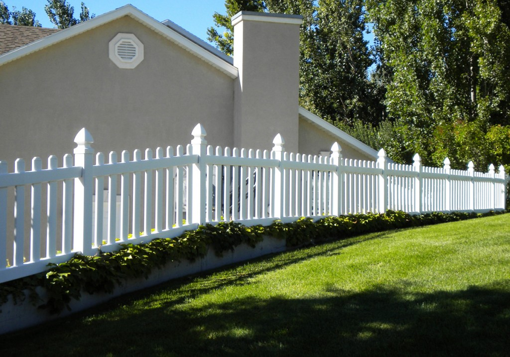 White vinyl picket fence Installation Alexandria VA